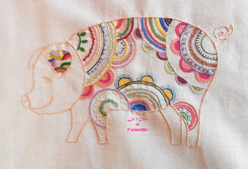 Broderie cochon
