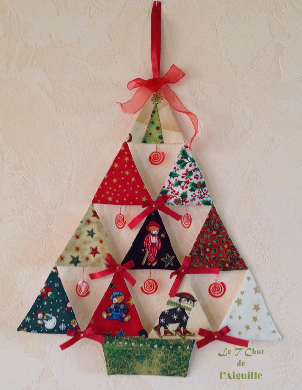 Sapin patchwork triangles