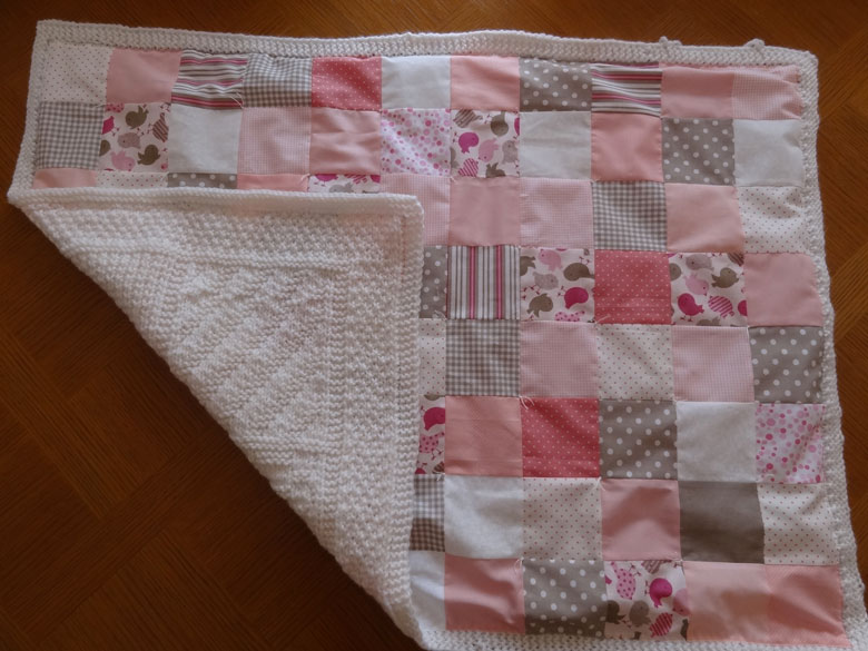 couverture bebe tricot patchwork