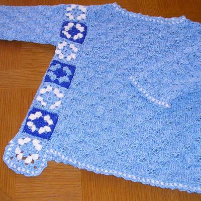 Pull fille tricot crochet